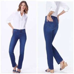 NYDJ Dark Wash Stretchy Marilyn Straight Leg Jean
